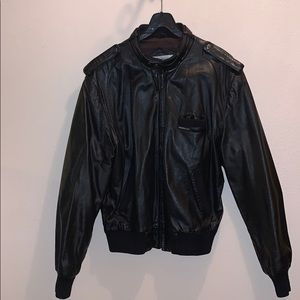 Members Only leather jacket iconic racer jacket